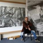 R.W. Schmidt in seinem Caputher Atelier