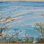 zugeschnitten_1_Monika TAFFET_Sträucher an den Havelseen, Potsdam, 2016, Öl auf Leinwand, 35 x 60 cm