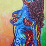1. Akt In Farbe Acryl