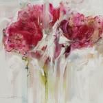 Frances Duarte Reaching Floral 180 x 180 cm acrylic on canvas