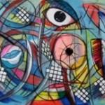 Abstrakt Mixed Media 50x70