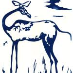 Antilope_21x30_woodcut_siegfriedGwosdz