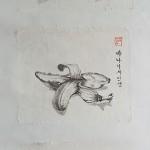 SOOKI_Triptychon, Das Leben der Bananen_2012_98x 36cm_Tuschmalerei auf Korea Papier als Rollbild