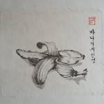 Triptychon das leben der Bananen_2012_mit.Teil_18 x 21 cm_ tuschmalerei auf Korea Papier.jpg