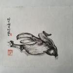 Triptychon das leben der Bananen_2012_u.Teil_18 x 21 cm_ tuschmalerei auf Korea Papier.jpg
